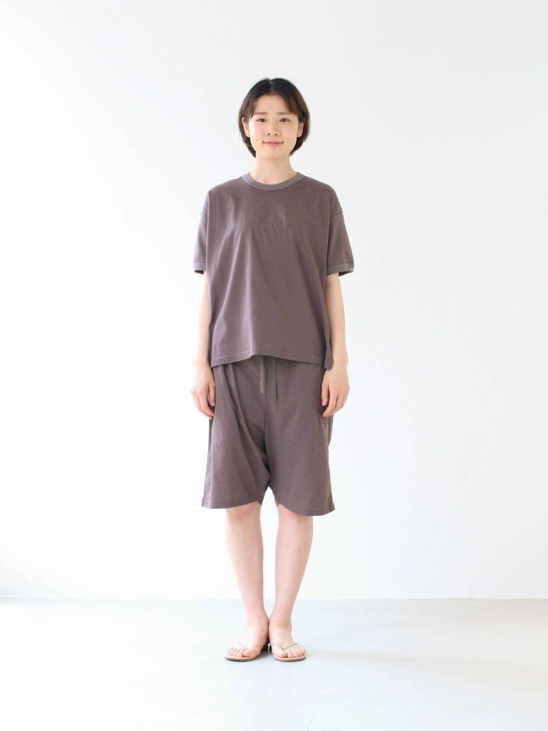 【slowlife wear】MidiUmi クルーネックハーフスリーブプルオーバー