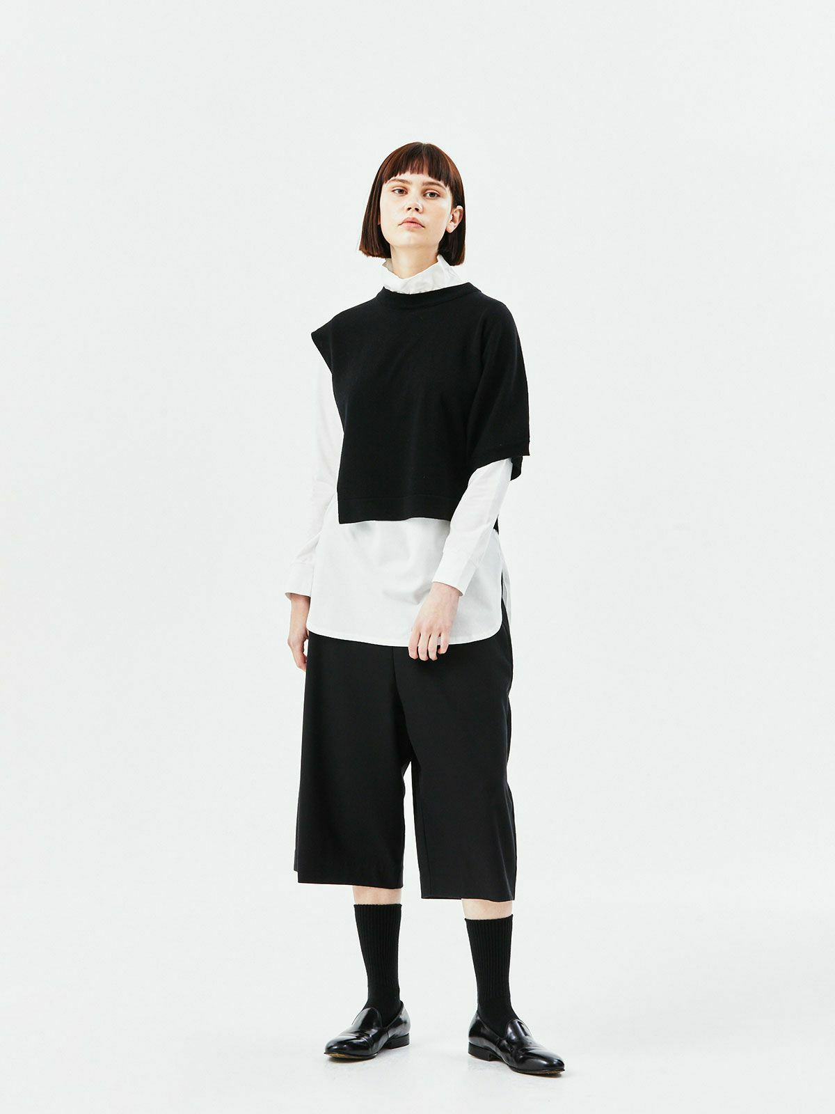 asymetry tunic   /  black