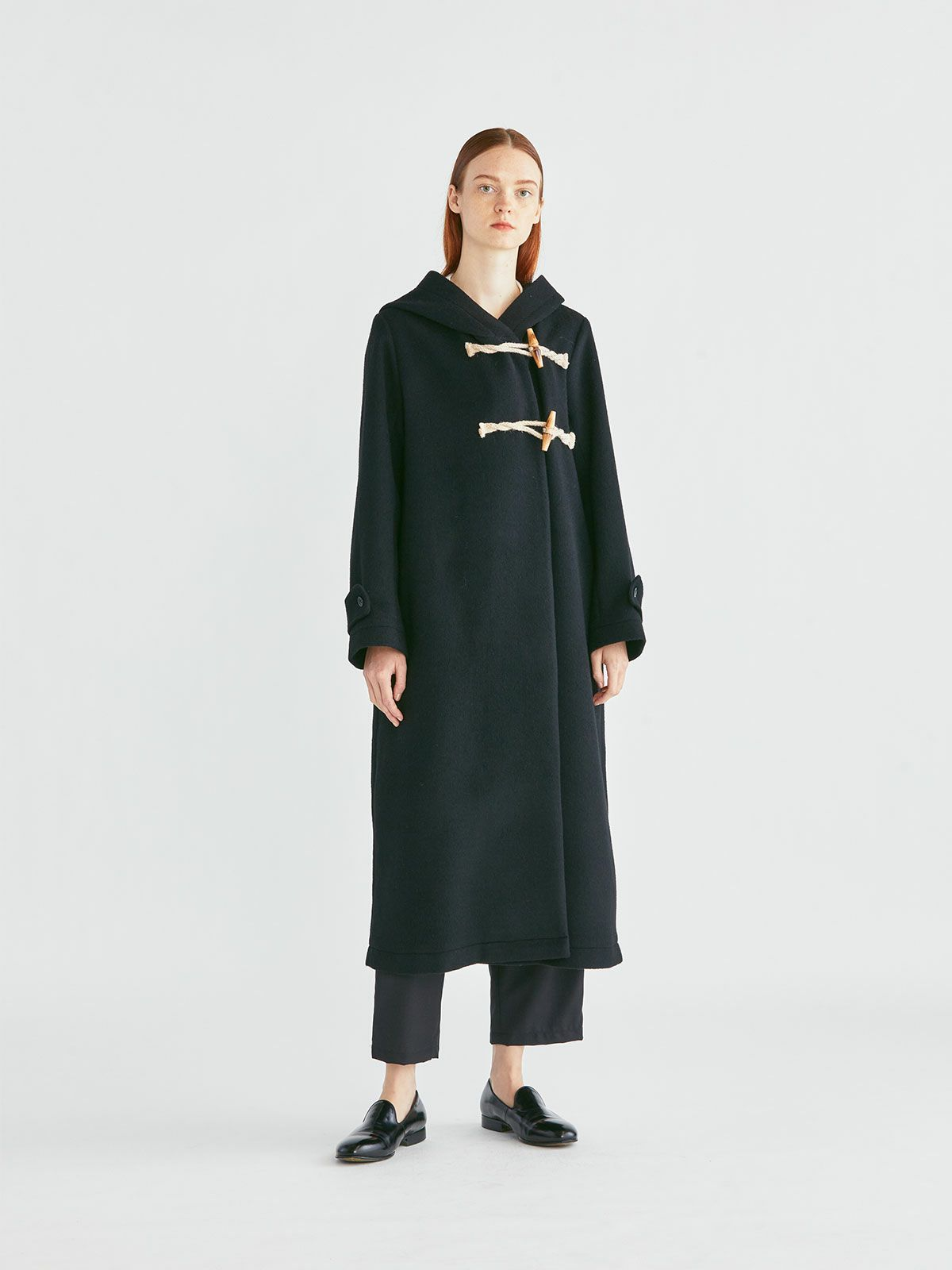A line duffle long coat   /  navy