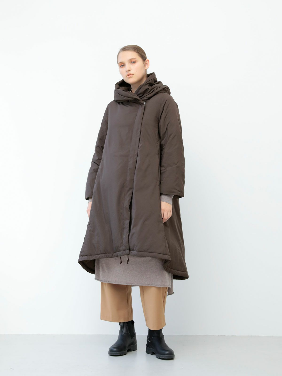 hooded a line dawn coat