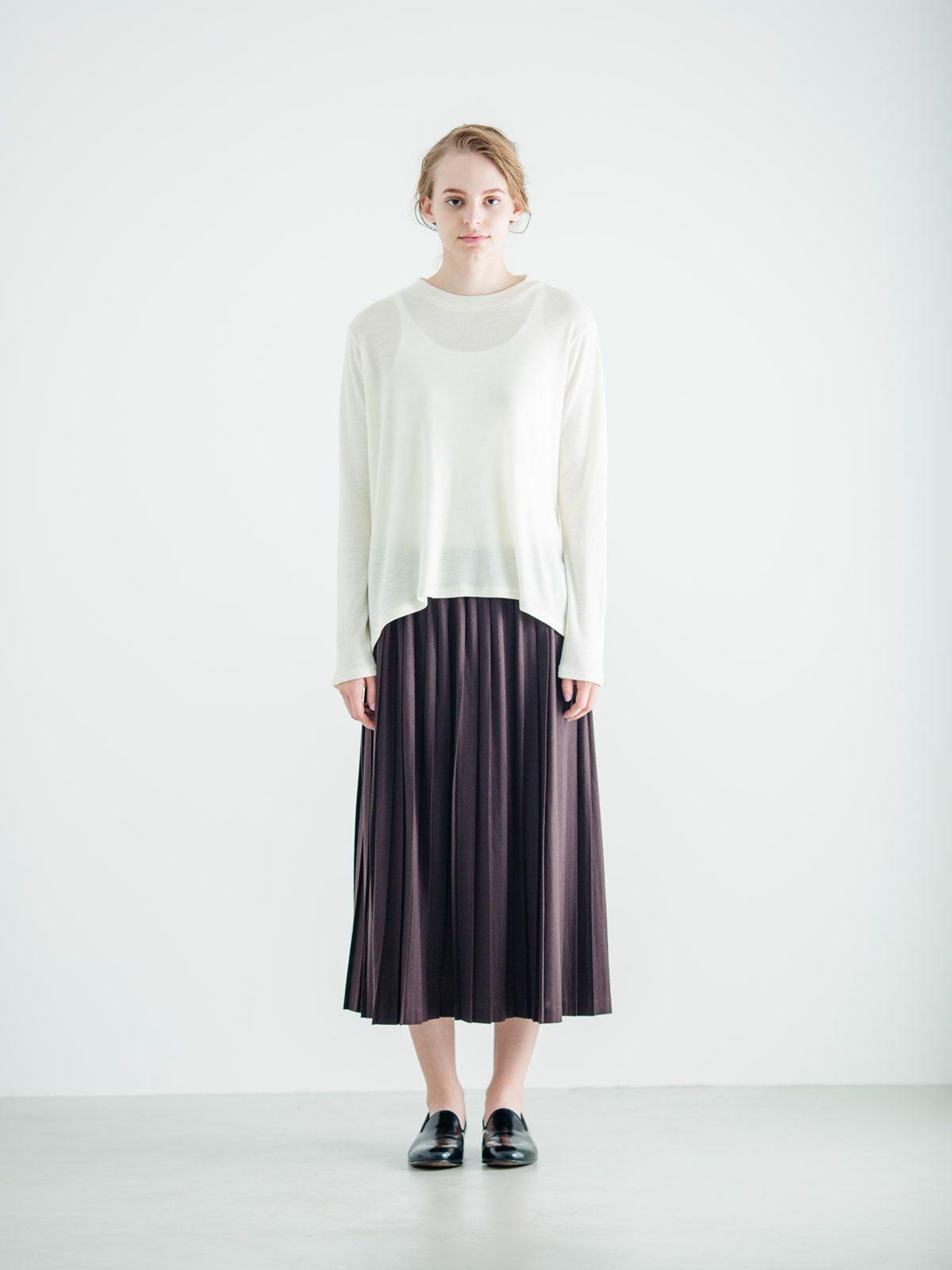 ショートハイネックフレアTシャツ   /  off white