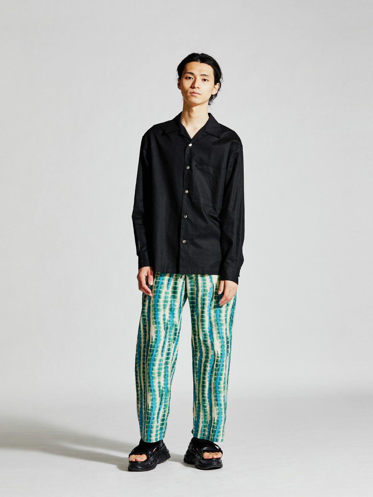 MIDIUMISOLID Men's オープンカラーシャツ