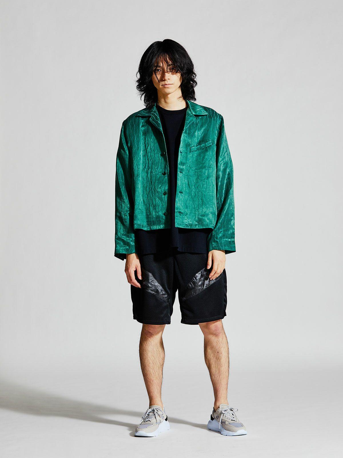 MIDIUMISOLID Men's ランダムストライプジャケット