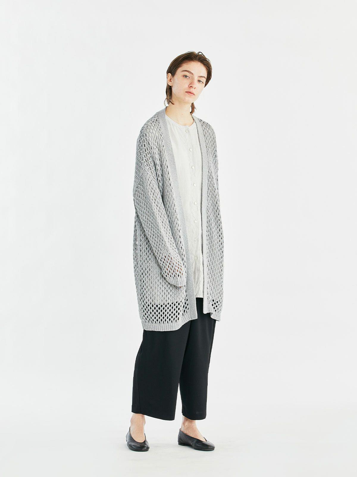knit cardigan  /  gray