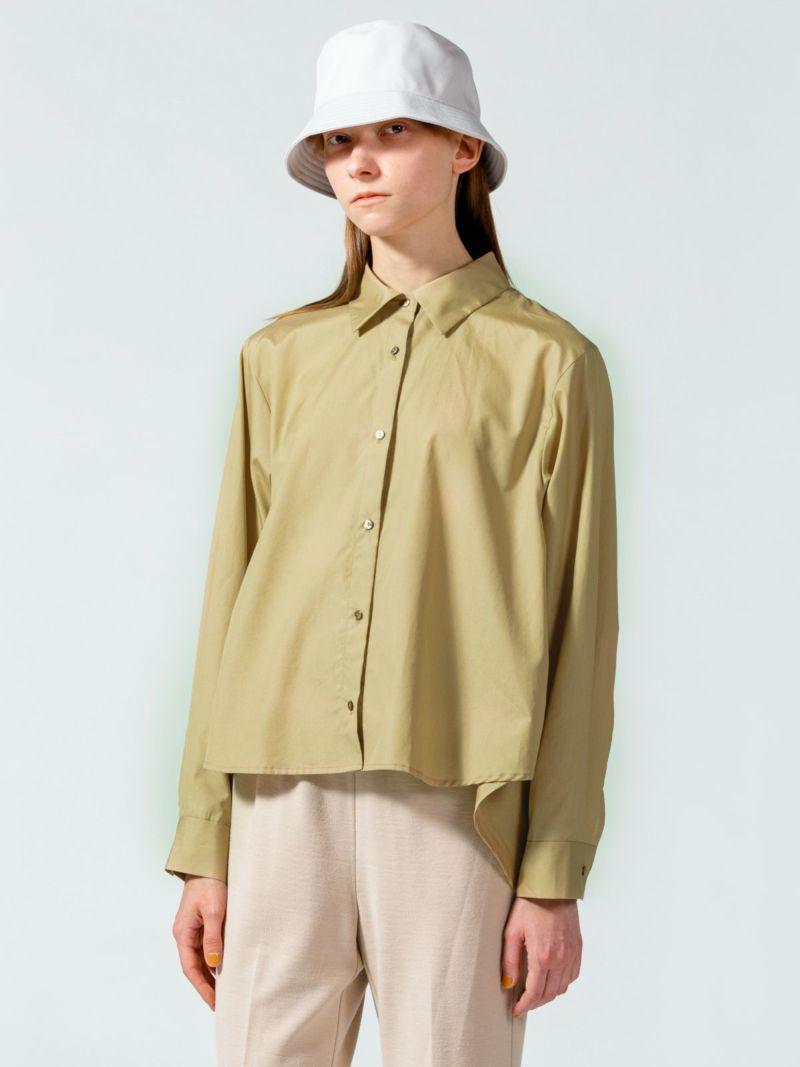 back flare shirt     beige