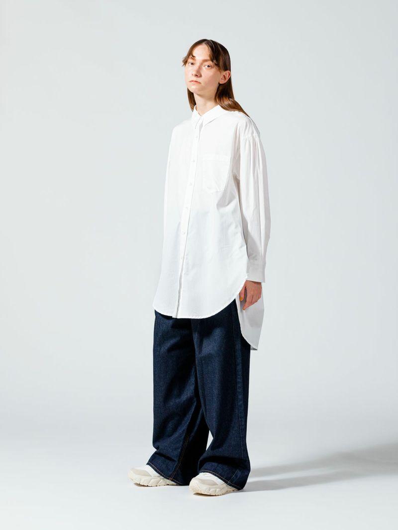 big shirt tunic / off white