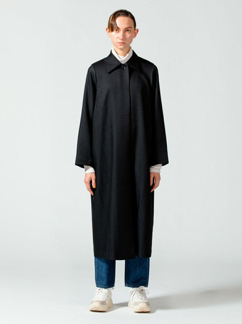 soutien collar coat / l.gray