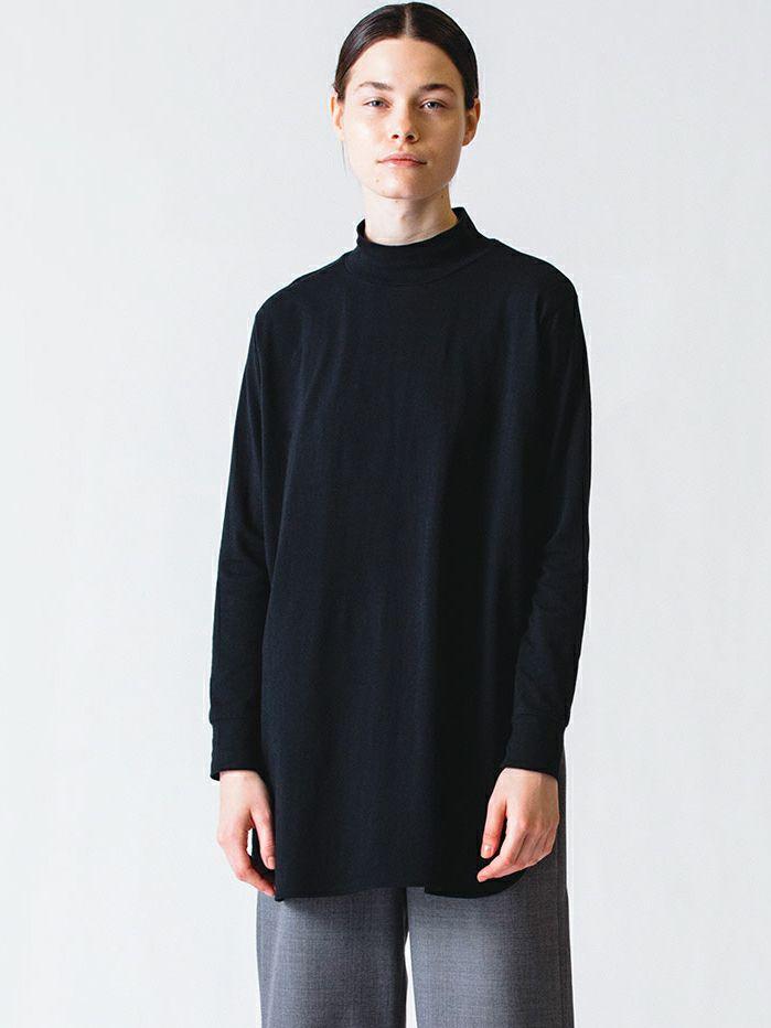 high neck tunic P/O / black