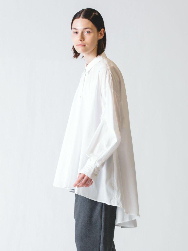 flare shirt tunic / off white