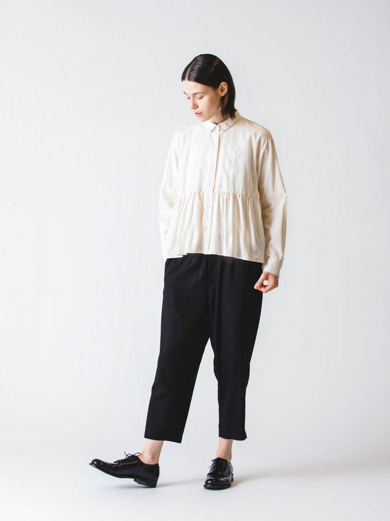waist gather shirt