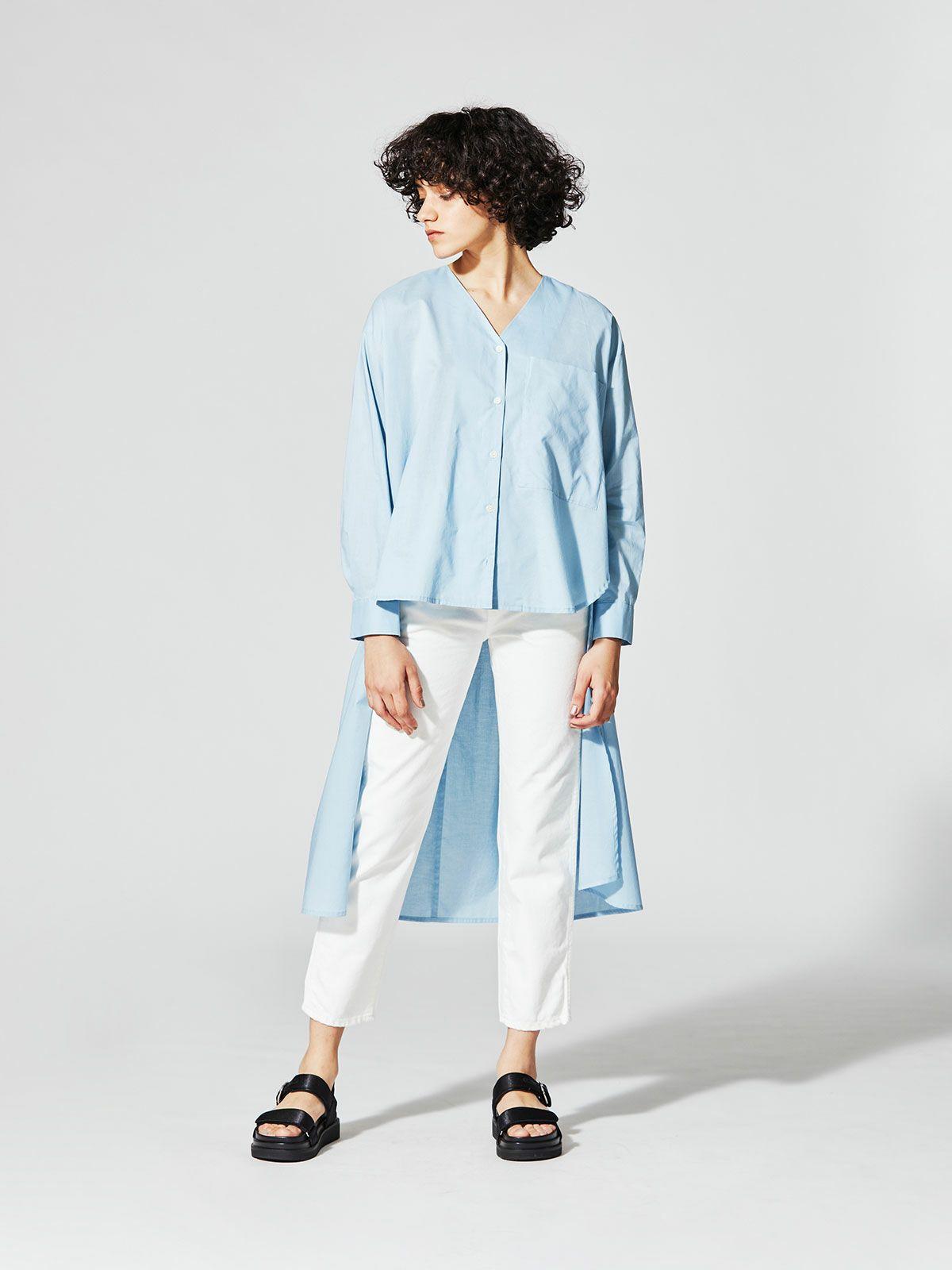 MIDIUMISOLID for Ladies イレギュラーレングスシャツ