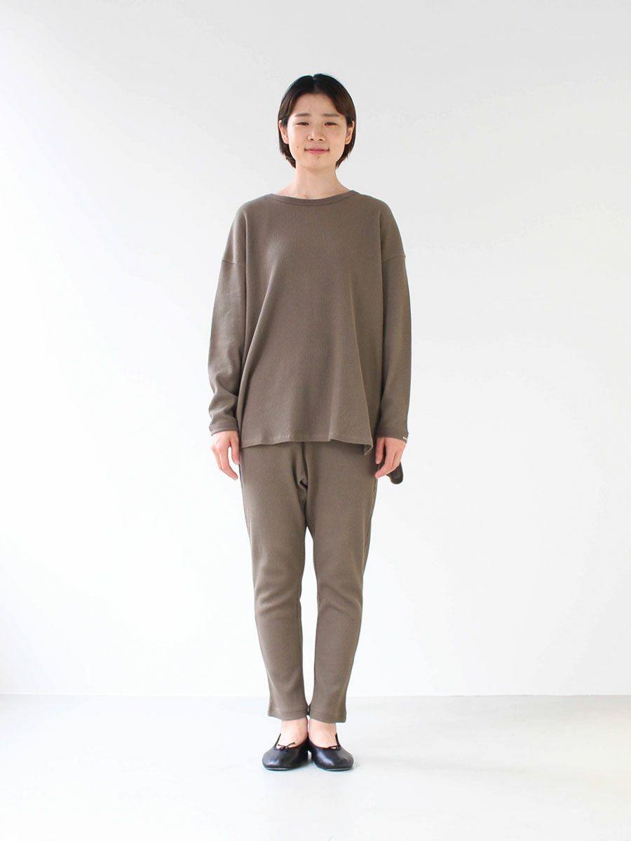 【slowlife wear】MidiUmi ワッフルクルーネックチュニック