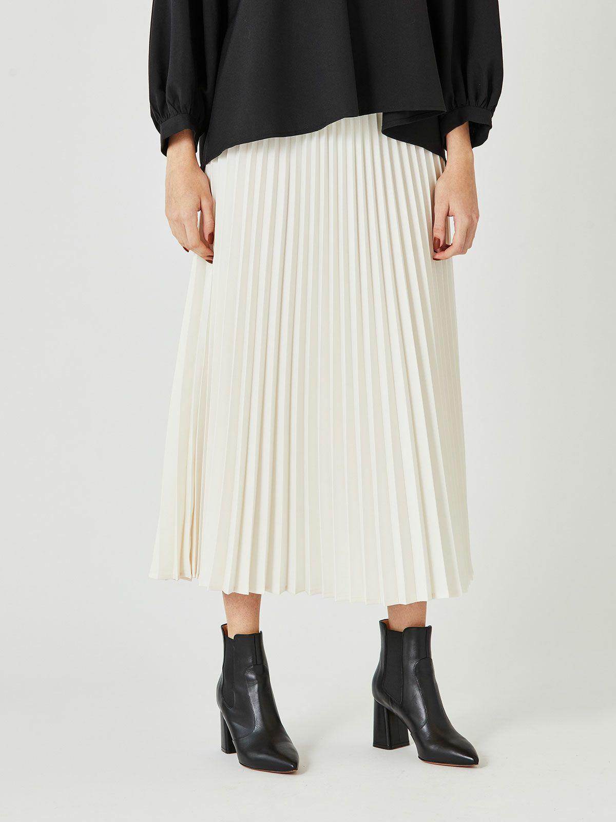 MIDUMISOLID for Ladies アコーディオンプリーツロングスカート