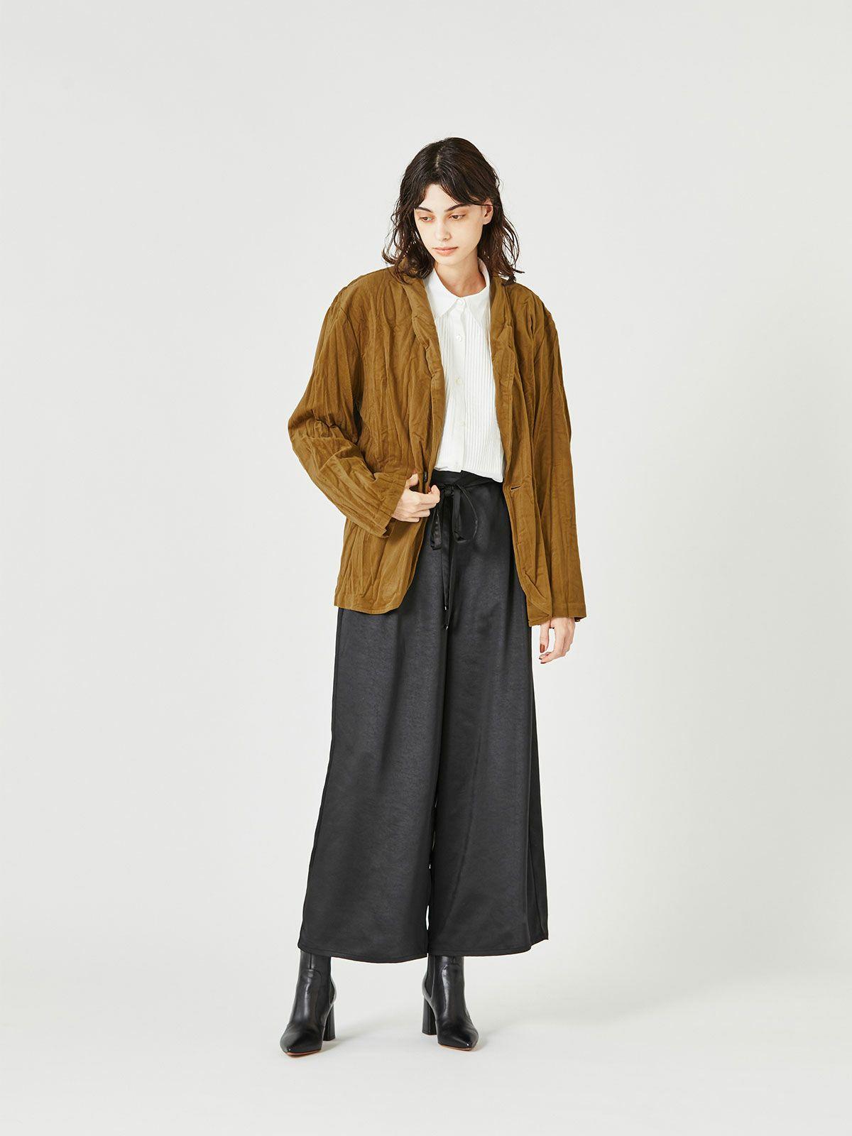 MIDUMISOLID for Ladies ツイストショールカラージャケット