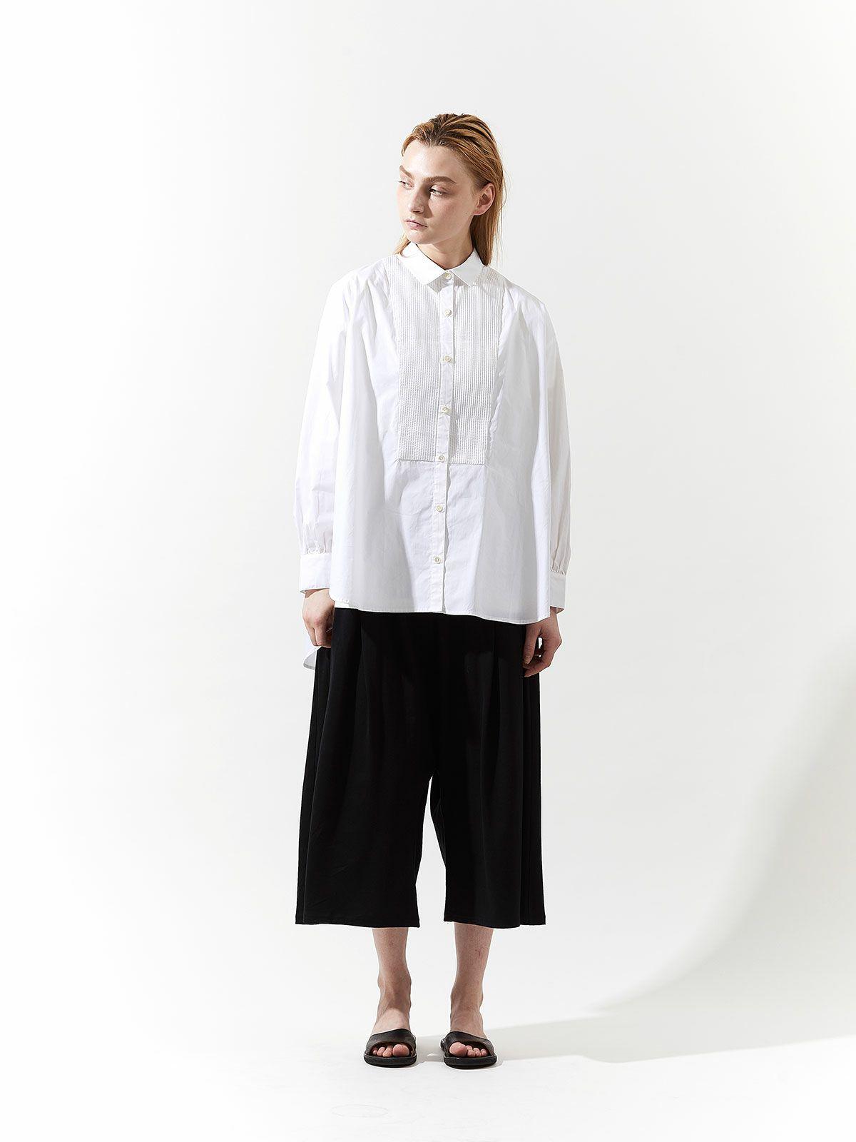 pin tuck wide shirt