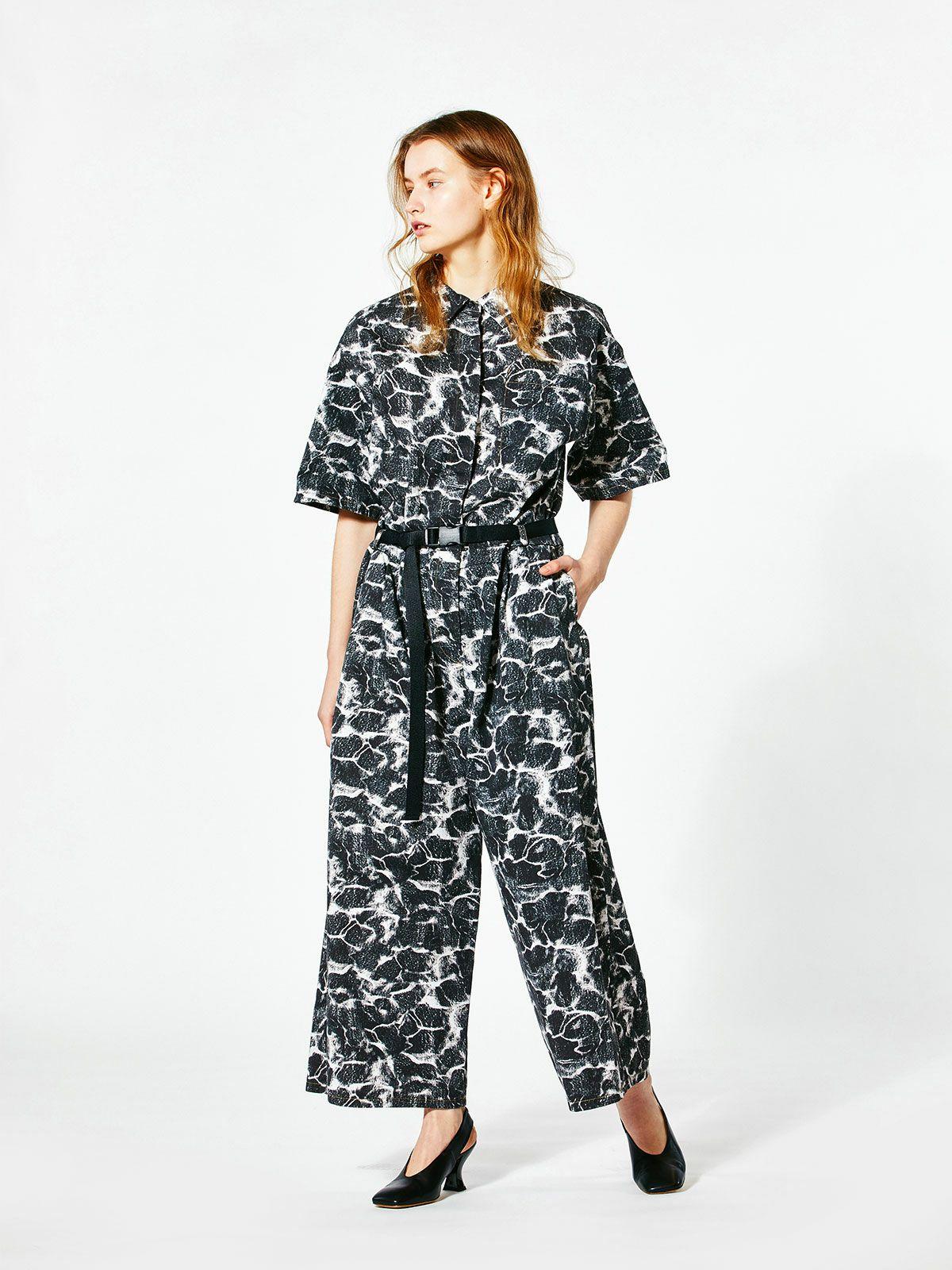 print wide jump suit