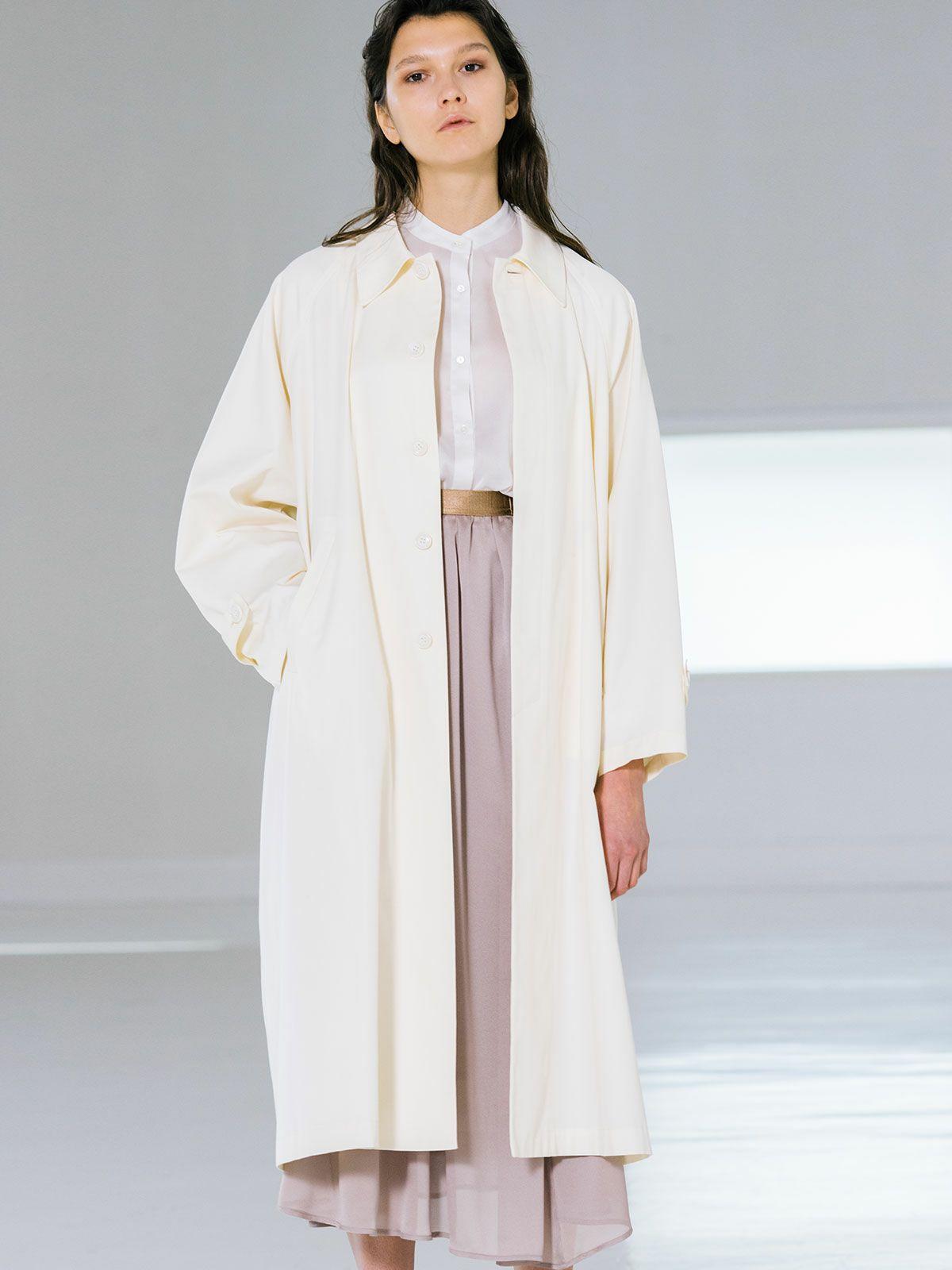 A line soutien collar coat