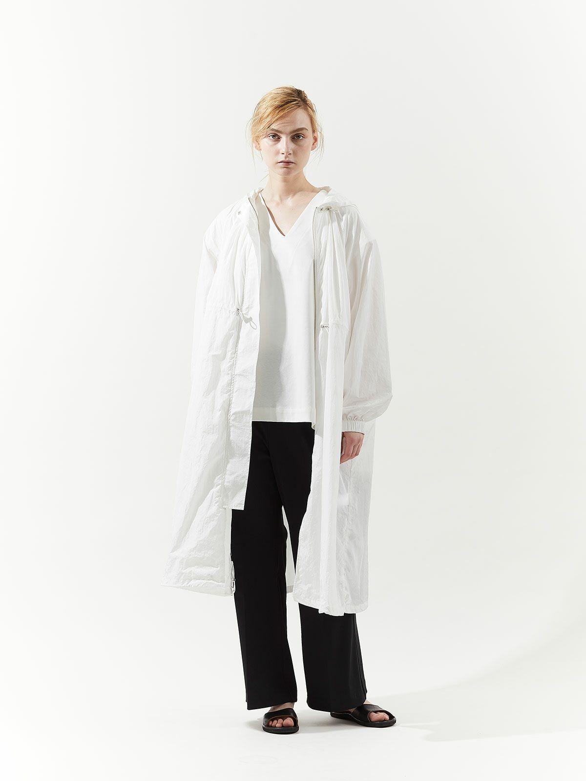 Long wide hoodie coat