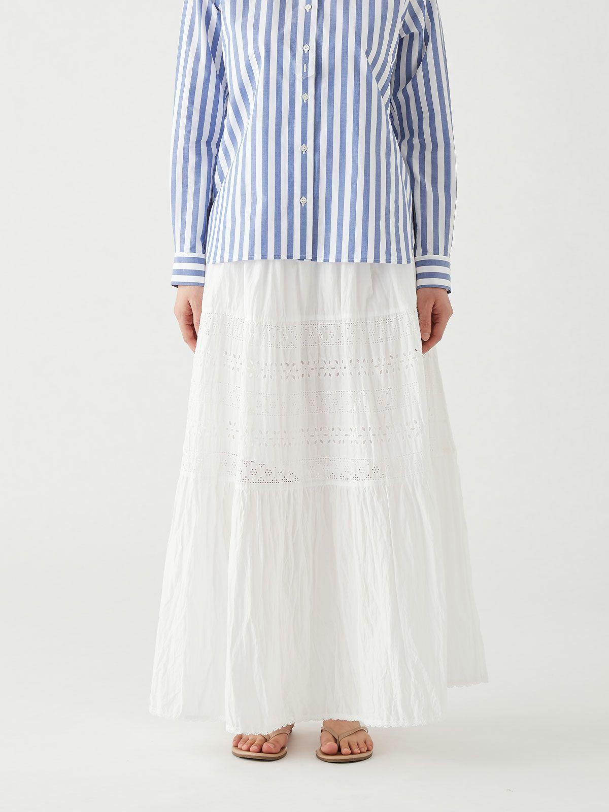 トーションレースフレアスカート