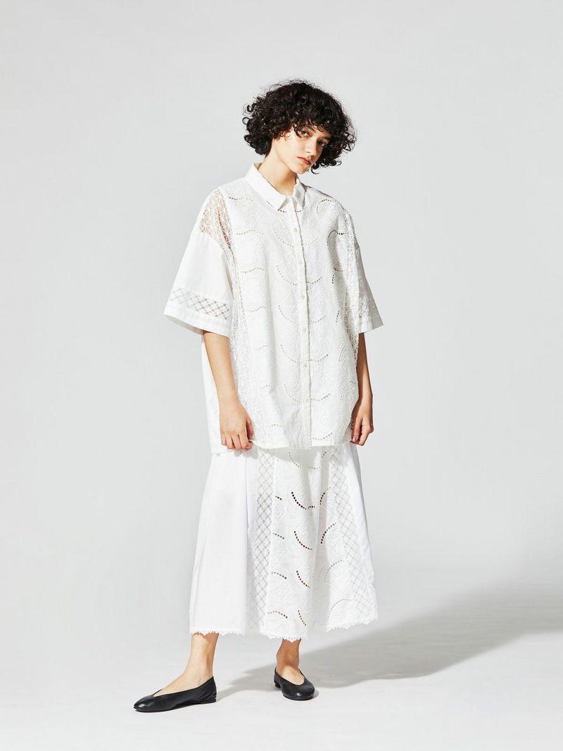 lace box shirt  /  off white